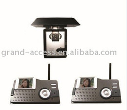 Free Shipping for Wireless Video Door Phone Promotion One camera and two Moniter