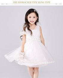 2016 Full Lace Wedding Dresses Party Formal Flower Girl Kid Dress Baby Pageant Bridesmaid White Dresses Sweetheart Girl Dresses