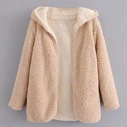 Lady Warm wool coat 2019 autumn and winter European and American new thick and lazy terry Hooded jacket