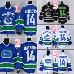 Wholesale Factory Outlet Low Price Mens Alexandre Burrows Jersey Vancouver Canucks Jersey Best Quality Stitched Hockey Jerseys Size M XL