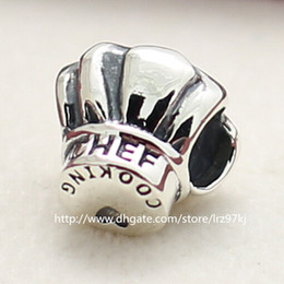 100% 925 High-quality Sterling Silver Chef Hat Charm Bead Fits European Jewelry Bracelets Necklaces & Pendants