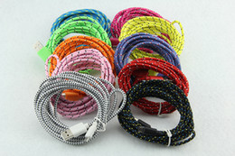 3m 10ft 2m 6ft 1m 3ft Fabric Braided Nylon Data Sync USB Cable Cord Charger Charging Coloful for Mobile Phone