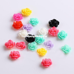 Wholesale-Xmas Free Shipping Wholesale  Nail Supplier,100pcs 3D Resin Colorful Flower DIY Acrylic UV Gel Polish Tool Nail Design  Nail Art