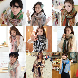 Wholesale Womens Bohemia Scarves Ethnic Long Scarf Boho Bali Yarn Wraps Shawls Autumn Winter Scarf