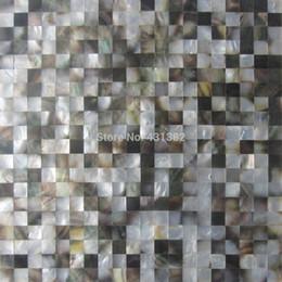 Wholesale Blacklip mother of pearl tiles X15 backsplash kitchen bathroom mirror tile backspalsh wall shell mosaics mother of pearl tile