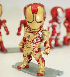 Wholesale MOQ set styles Iron MAN Movie led Light PVC cm Action Figures Movable Vehicle Action Figures best gift for kids