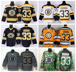 Wholesale 2015 Cheap Ice Hockey Boston Bruins Zdeno Chara Jersey Third Bear Alternate Black Uniform Chara Bruins Jersey