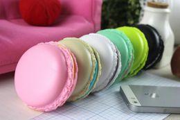 Wholesale Macarons design in ear earphones Headphones Headset For Xiaomi Samsung For iPhone ipad Cute headphone for MP3 Player