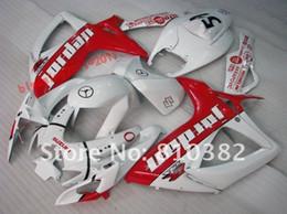 Motorcycle Faiirngs set for SUZUKI 2006 2007 GSXR 600 GSXR 750 fairing kit GSXR600 750 06 07 WHITE RED Fairings Bodywork