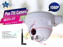 Wholesale 2 Megapixel IR Mini Dome Camera P high definition Wifi Wireless PTZ ONVIF Pan Tilt Dome IP Camera with Micro SD Slot