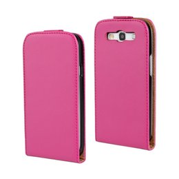 For Samsung Galaxy S3 i9300 Texture Genuine Flip Leather Case Cover