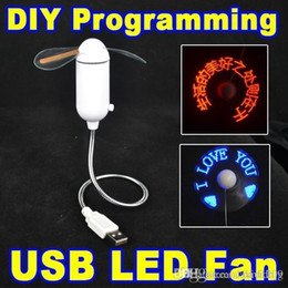 Wholesale DIY Flexible USB LED Light Fan Programming Any Text Editing Creative Reprogramme Character Advertising Message Greetings