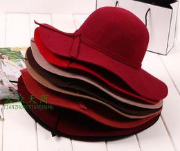Wholesale A298 Woman Fedora Hats Elegant Woman Cashmere Hats For Christmas Season Mixed Order Dropshipping