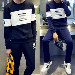 New Arrival Tracksuit for Men Casual Spring Autumn Winter Letter Print Pant Men's Sports Clothing Sets Sweat Suits