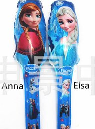 Wholesale Aluminum balloons Frozen cheering stick balloon clappers inflatable balloon stick Party Wedding decoration Elsa Anna Balloon