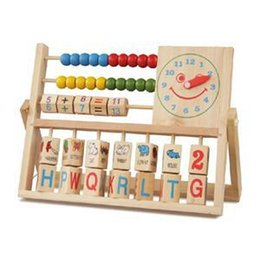 Wholesale 2015 New Multifunction Baby Learning Bead Abacus Computing Frame Counting Wooden Math Toy