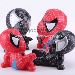 Wholesale Spider man Piggy Coin Bank Spiderman PVC Figure Collectible Model Toys Dolls Gifts for Children HRFG317