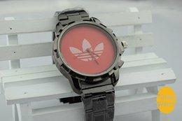 Wholesale 2014 Hot sale AD luxury Gold watch leaf grass fashion All steel watch women Men Sport Watch clocks clover watches