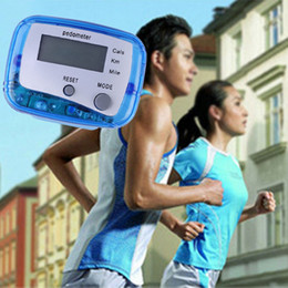 Wholesale Multifunction Pedometer Walking Distance Calorie Passometer Counter Blue H1E1