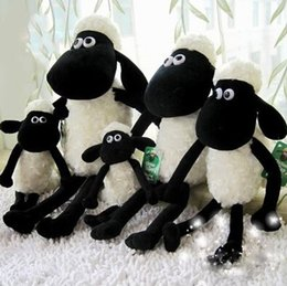 Wholesale Year Of Goat For Mascot Stuffed Toys Black White Sheep Plush Toys Big Eyes Sheep Stuffed Animals Two Size For CM K297