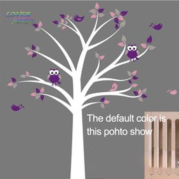 Wholesale Cot Side Owl Tree Birds Removable Wall Stickers Kids Nursery Decor Vinyl Decals Art Decorative Sticker SIZE x150cm x205cm