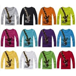7 Colors Giraffe Boys Long Sleeve T-Shirts Bottom Shirts 35pcs Children's Tee Shirts Tops Baby Boy Jerseys Fashion Kids Clothes