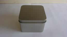 Wholesale 7 x7 x5 cm Square useful tea iron case storage case silver tea tin box