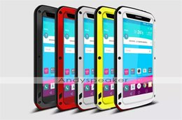 Wholesale 1pc Love Mei Powerful Case for LG G4 Water Dirt ShockProof Metal Aluminum Cases Cover Tempered Gorilla Glass Colorful with retail box
