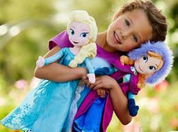 Wholesale DHL free Hot Sale CM Children Dolls Princess Elsa Anna Cartoon Toys Kids Baby Soft Toy Sonw Queen Doll G0648