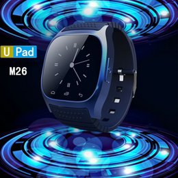 Fashion smart watch R-Watch M26 Bluetooth Smart LED Light Display m26 smartwatch with Dial   Call Answer   SMS Reminding for Android and IOS
