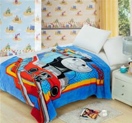 Wholesale 2015 Hot Sale Baby cm Coral Fleece Blankets Children s cartoon Thomas soft blankets