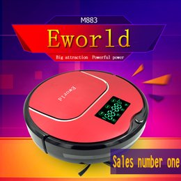 Wholesale Eworld M883 Robot Automatic Vacuum Cleaner for Floor with LCD Screen Hot Mini Robot Vacuum Cleaner with Mop