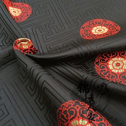 Wholesale Brocade fabric costume antique Tibetan ethnic Han Chinese clothing kimono fabric cloth festive scene layout