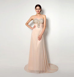 2015 Long Chiffon Beaded Prom Dresses Crystal Summer Style Vestidos de Festa Actural Picture 100% Evening Dress Free Shipping Size 4 to 16