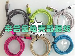 Wholesale 1 meter length of quick charge android aluminum alloy cable national standard pure copper
