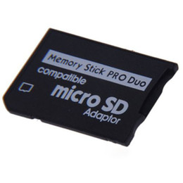 Adaptateurs duo memory stick en Ligne-Nouvelle arrivée Micro SD SDHC TF Memory Stick MS Pro Duo adaptateur de carte mémoire Reader Converter pour PSP
