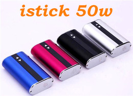 istick 50w Sell Cigarette OLED display USB charging 18650 4400mah batter box mod VV VW mod with VS istick 30W box mods 2016 cigarettes