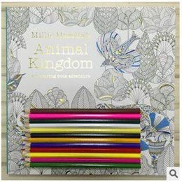 Wholesale 100pcs CCA2723 Animal Kingdom Secret Garden Colouring Book for Adult Kids Creative Therapy Colouring Doodling Drawing Books Thread Binding