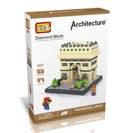 Wholesale LOZ The Triumphal Arch French Model Nano World Architecture Britain D Diamond Building Blocks Action Figure D Bricks Best Toys