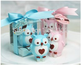 Wholesale Candle Favors Free Shipping - 100pcs lot free shipping Baby shower favors birthday part owl candle gifts wedding party decoration