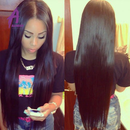 Brazilian Virgin Hair Straight Alimice Hair 1Pc Only Virgin Straight Hair Bundles Deal Brazilian Hair domestic delivery Straight