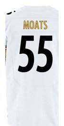 Wholesale Factory Outlet Men s Arthur Moats Jersey Elite White Black Stitched Name And Number