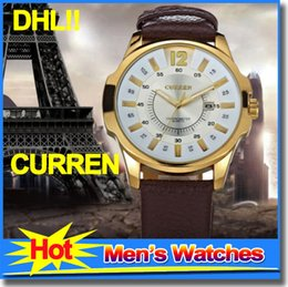 Wholesale Best Selling CURREN Mens Watches Leather Straps Watch Waterproof Quart Wrist Watches For Men Relogio Masculino