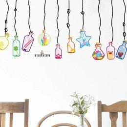 Wholesale Colour Drift Bottle Wall Stickers Home Decor Cartoon DIY Pegatinas Papel De Parede Infantil Enfeites Para A Casa