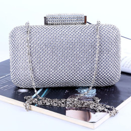 Factory direct wholesale brand new handmade fantastic diamond evening bag clutch with satin PU for wedding banquet party porm(More colors)