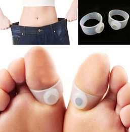 Wholesale Health Care Feet Care Easy Massage Slimming Silicone Foot Massage Magnetic Toe Ring Fat Burning For Weight Loss