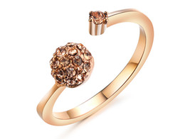 18KRGP rose gold plated Platinum filled wedding rings size8 for women 2015 hot new fashion jewelry with white crystal wholesale