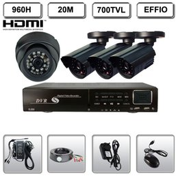 4CH 960H DVR 700TVL Day Night CCTV Security Camera System