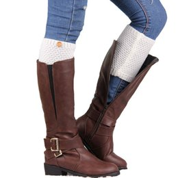 Wholesale Fashion Women Short Knitted Boot Socks Corn Button Boot Cuff colors