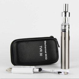 Descuento atlantis vapor TVR-30 Vape Mods TVR Caja Mod USB passthrough Cigarrillo electrónico 2200mah batería ecigarette Atlantis Aspire Vaporizador Atomizador China Direct